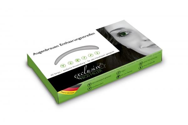 Einzelpackung Augenbrauen Enthaarungsstreifen 40 Strips
