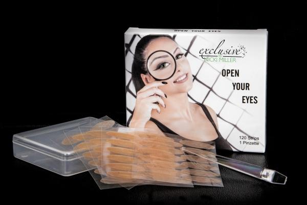 Open Your Eyes - weg mit dem Schlupflid - 120 Strips + 1 Pinzette