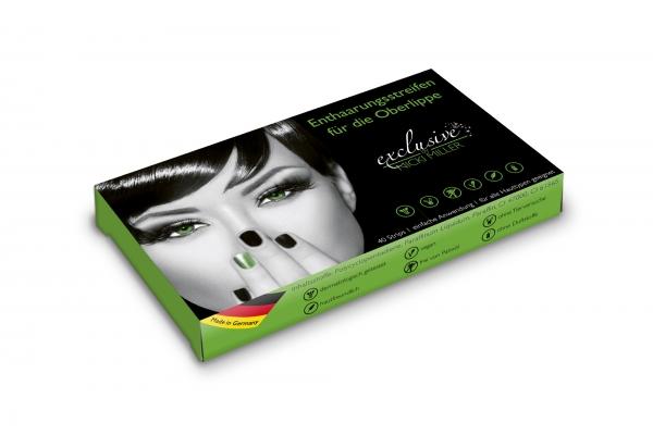 Einzelpackung Enthaarungsstreifen für die OBERLIPPE 40 Strips